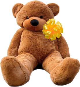 Brown Bear with Yellow Bow